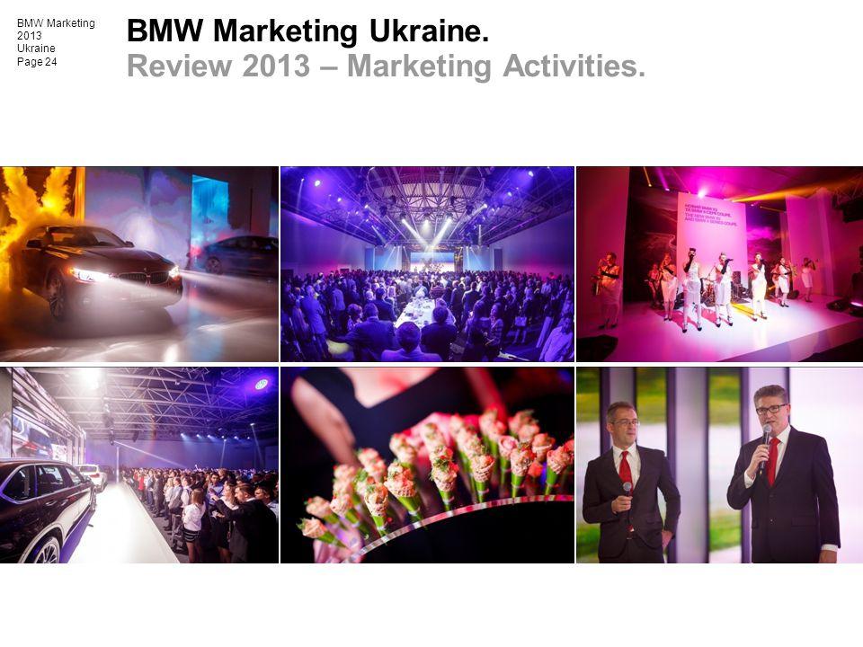 BMW Marketing 2013 Ukraine Page 24 BMW Marketing Ukraine. Review 2013 – Marketing Activities.