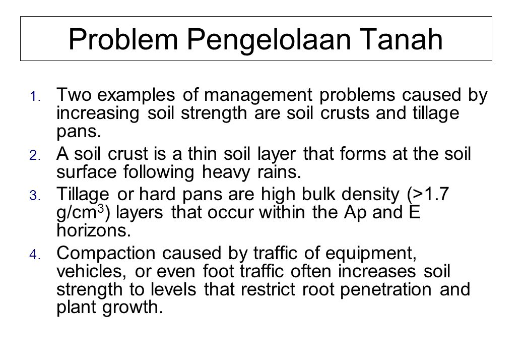 Problem Pengelolaan Tanah 1.