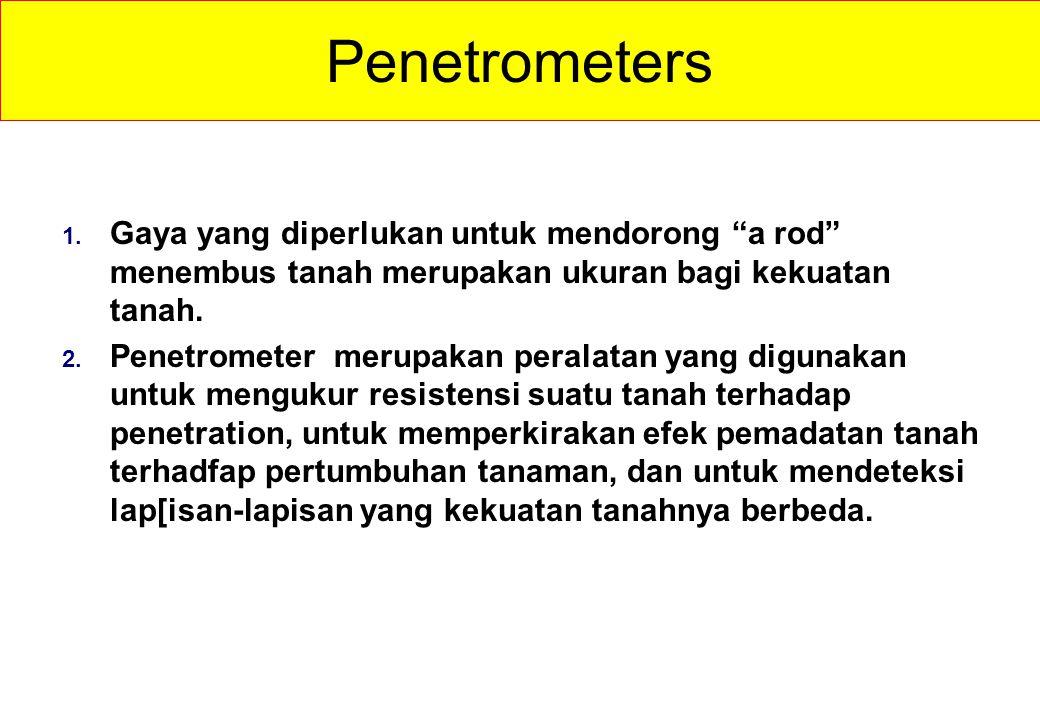 Penetrometers 1.