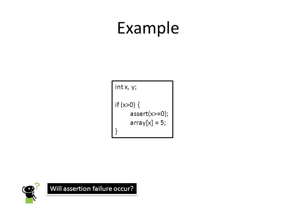 Guessing Loop Invariants Through symbolic execution with interpolants, we obtain conditions which must be satisfied in order to verify safety.