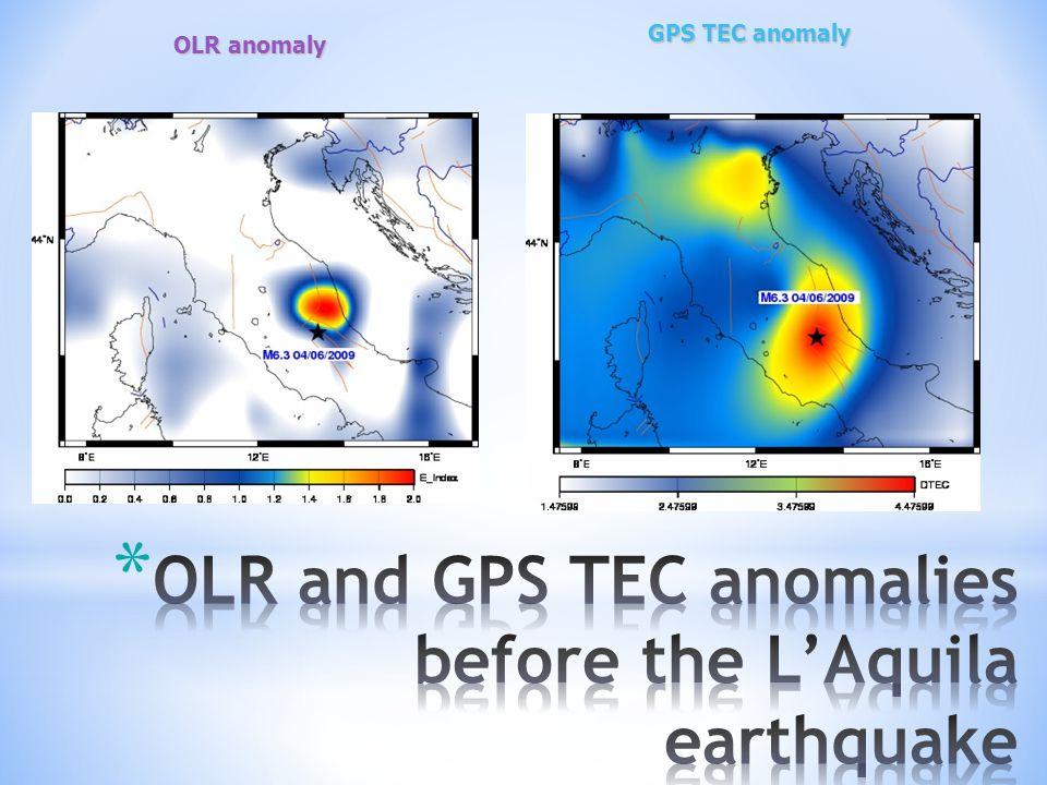 OLR anomaly GPS TEC anomaly