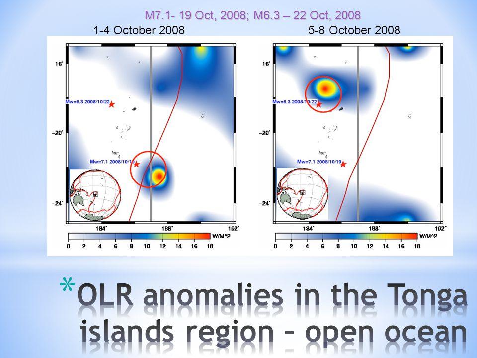 M7.1- 19 Oct, 2008; M6.3 – 22 Oct, 2008 1-4 October 2008 5-8 October 2008