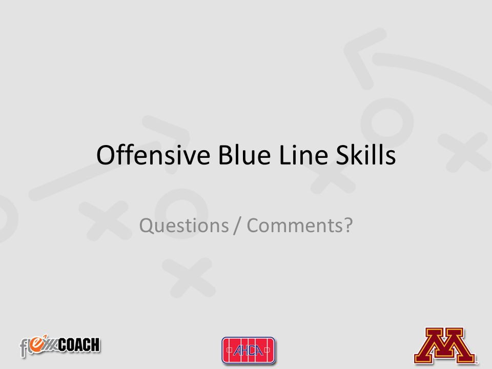 Offensive Blue Line Skills Questions / Comments?