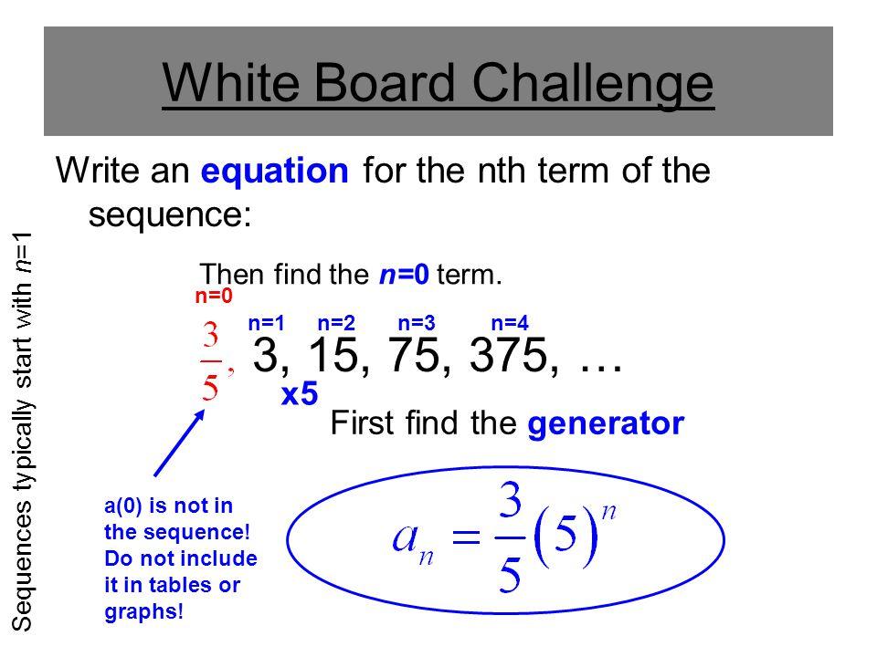New Sequences n=1 n=2 n=3 n=4 n=5