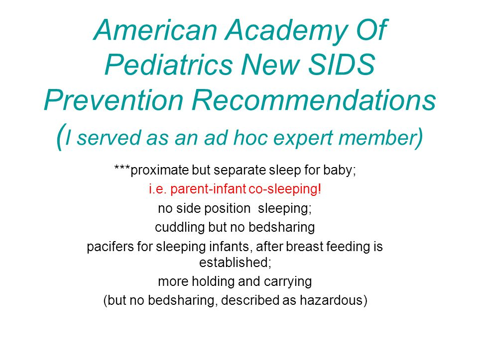 Variations of Safe/Unsafe Sleep Practices Infra-red Video Studies: Crib-Solitary and Bedsharing ( HD 39456-01 ) Examples: 1.Solitary-crib baby placed prone, face down; 2.