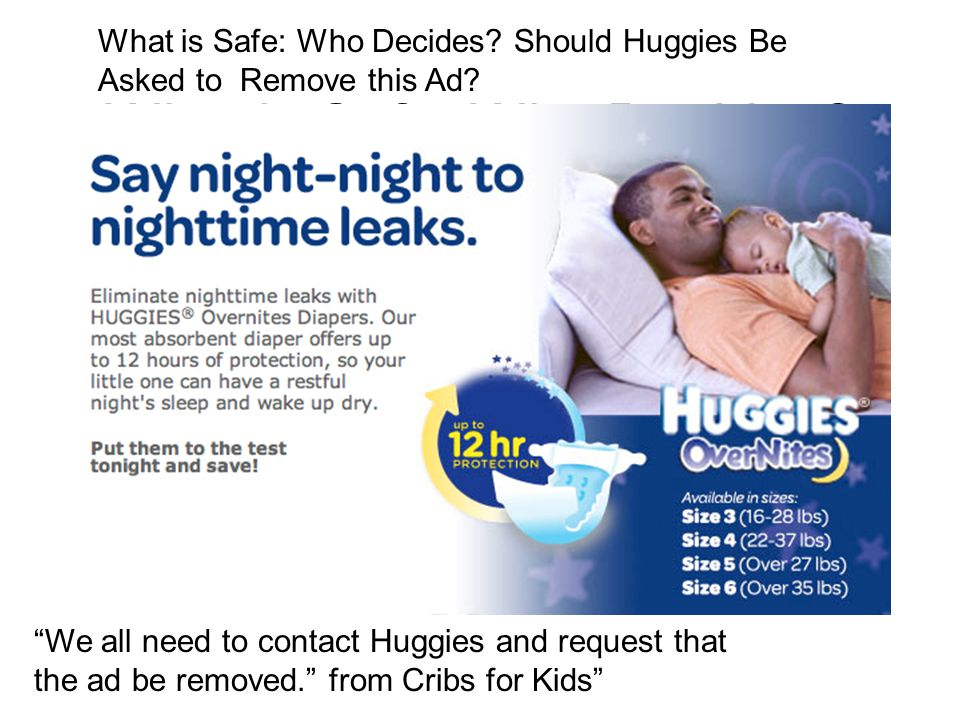 """What is Safe: Who Decides? What is Safe: Who Decides? Should Huggies Be Asked to Remove this Ad? """"We all need to contact Huggies and request that the"""