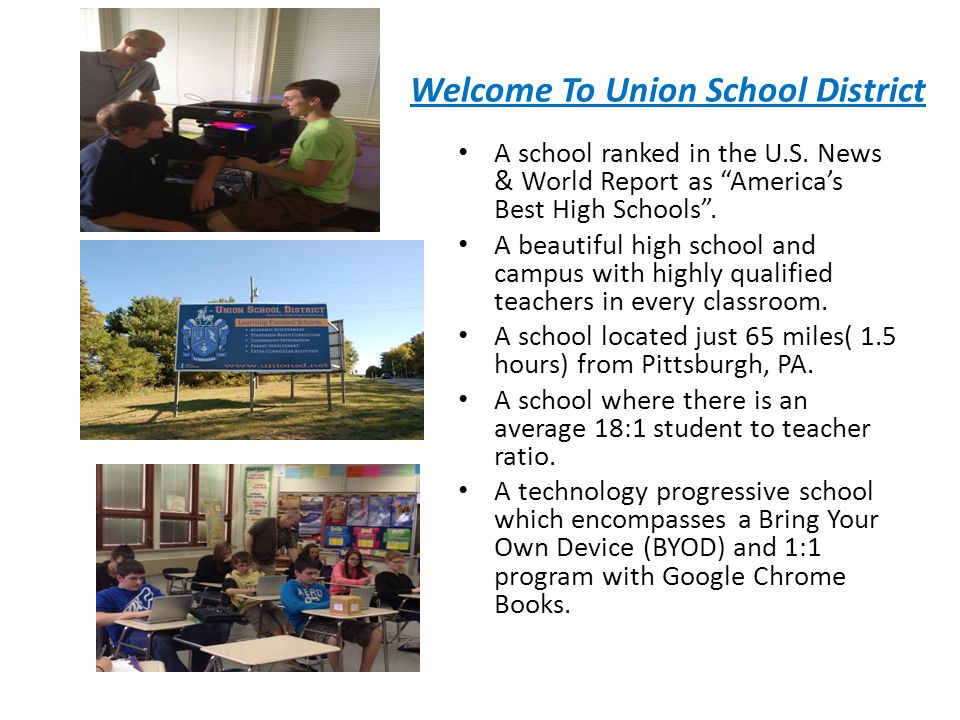 Experience all Four Seasons Union School District is located in the small town of Rimersburg, PA located in Clarion County which is in North Western Pennsylvania one of the most beautiful places in the world.