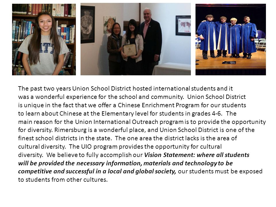 Union School District is proud of our Academic Student success.