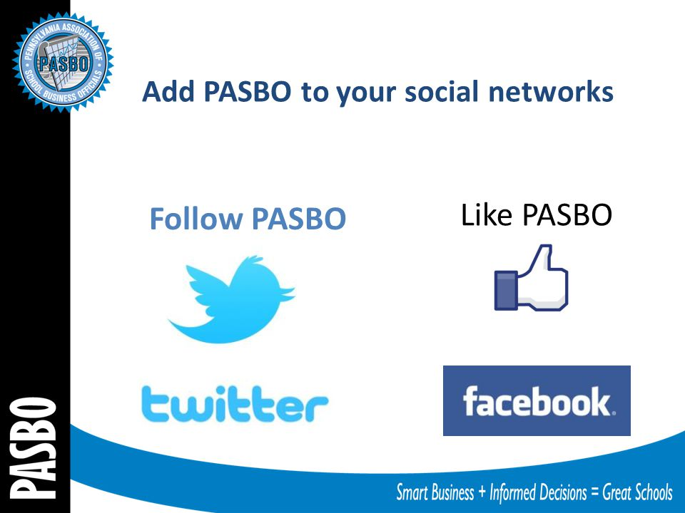 Follow PASBO Like PASBO Add PASBO to your social networks