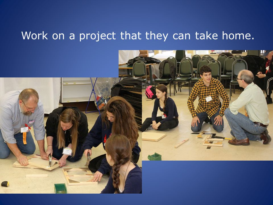 Work on a project that they can take home.