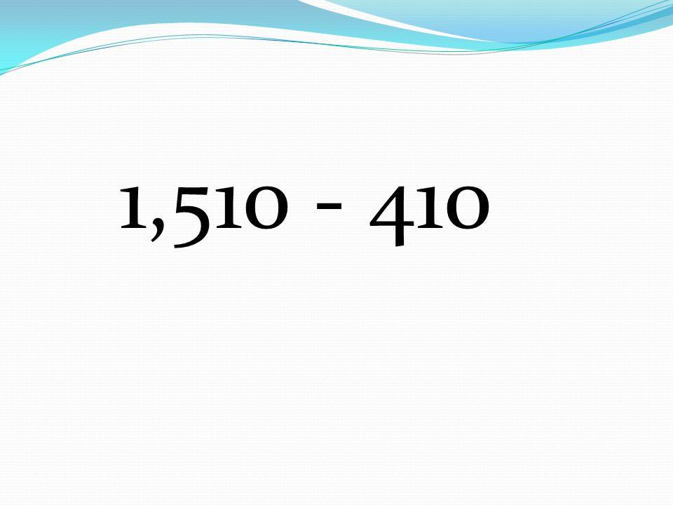 1,510 - 410