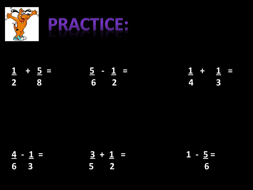 1 + 5 = 5 - 1 = 1 + 1 = 2 8 6 2 4 3 4 - 1 = 3 + 1 = 1 - 5 = 6 3 5 2 6