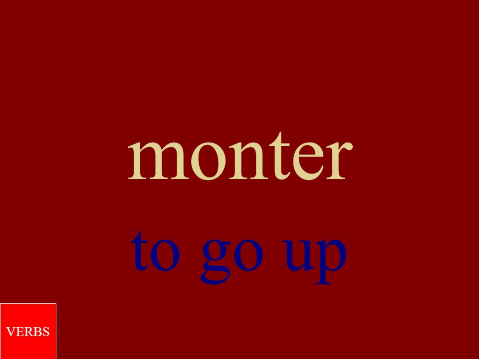 montrer to show VERBS