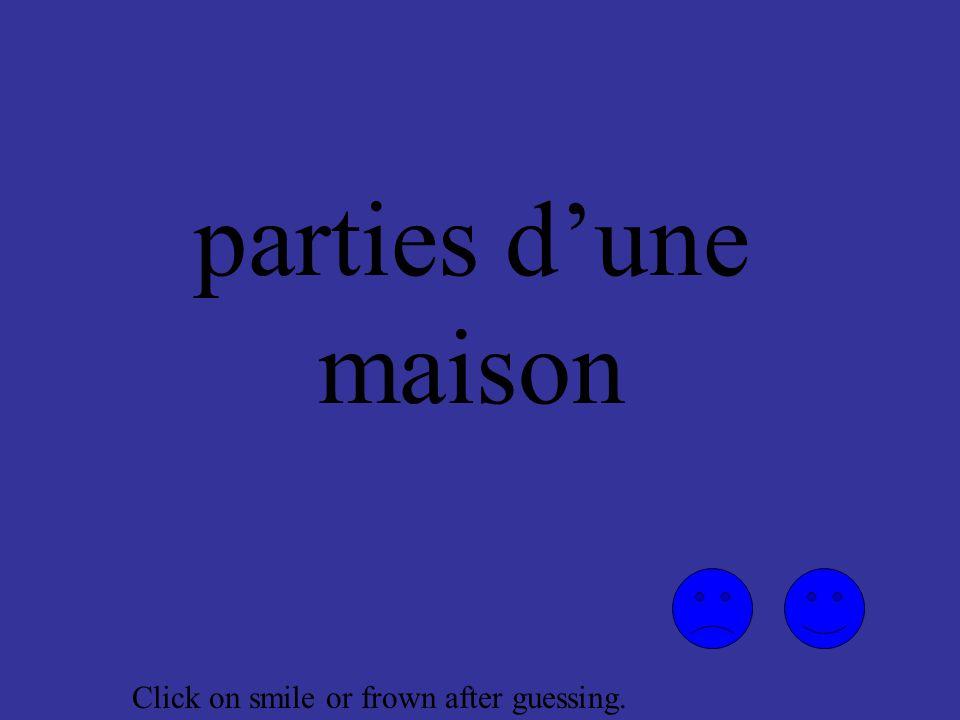 meubles de la salle de séjour Click on smile or frown after guessing.