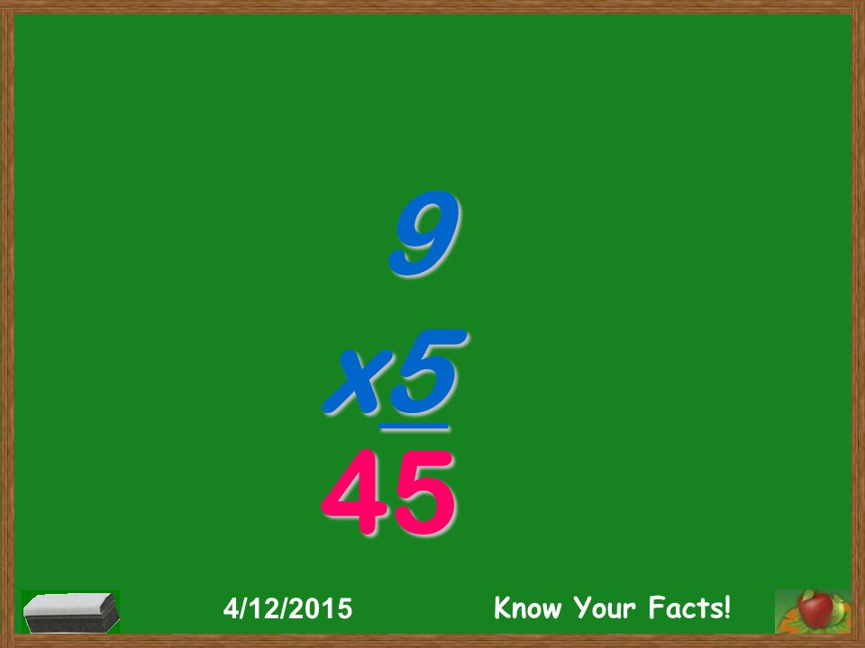 9 x5 45 4/12/2015 Know Your Facts!