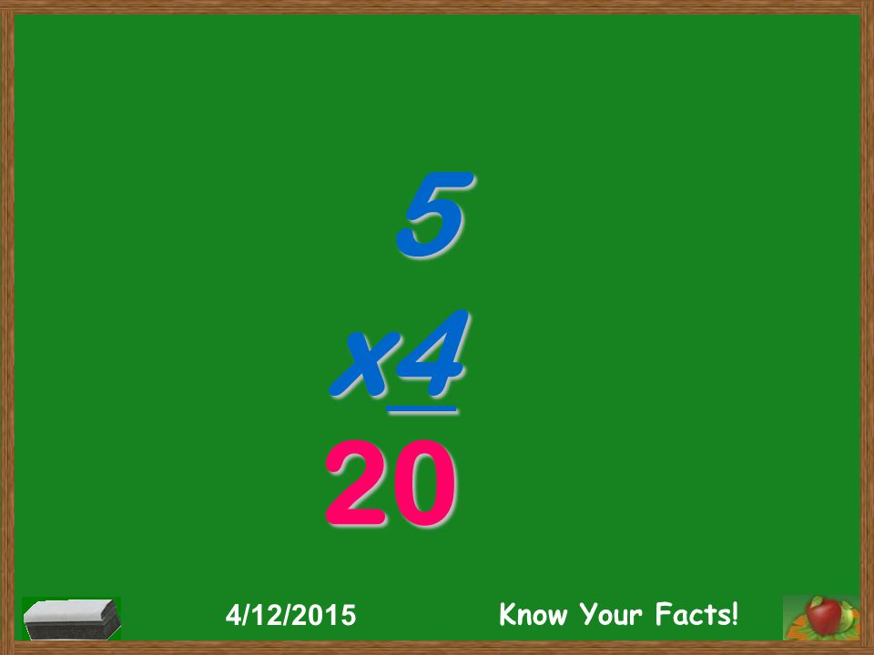 5 x4 20 4/12/2015 Know Your Facts!