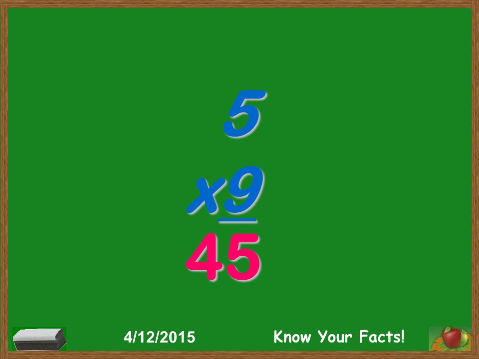 5 x9 45 4/12/2015 Know Your Facts!