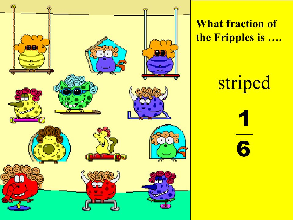 What fraction of the Fripples is …. spotted