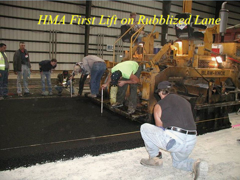AAR HMA First Lift on Rubblized Lane