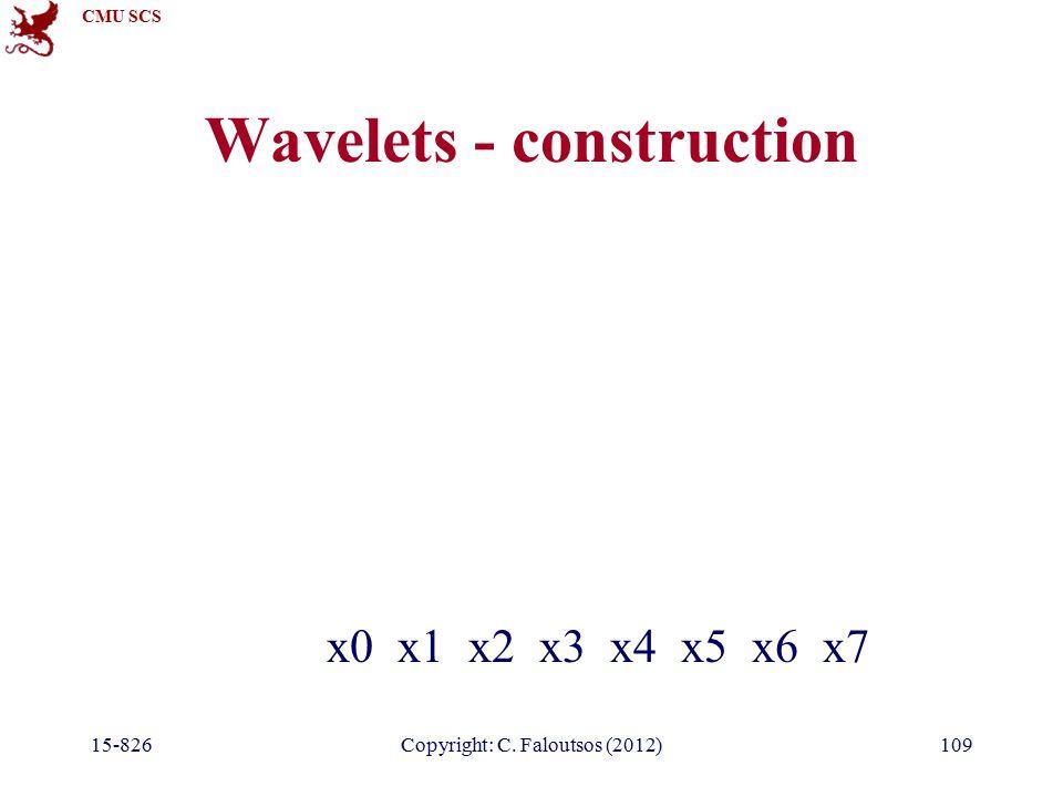 CMU SCS 15-826Copyright: C. Faloutsos (2012)109 Wavelets - construction x0 x1 x2 x3 x4 x5 x6 x7