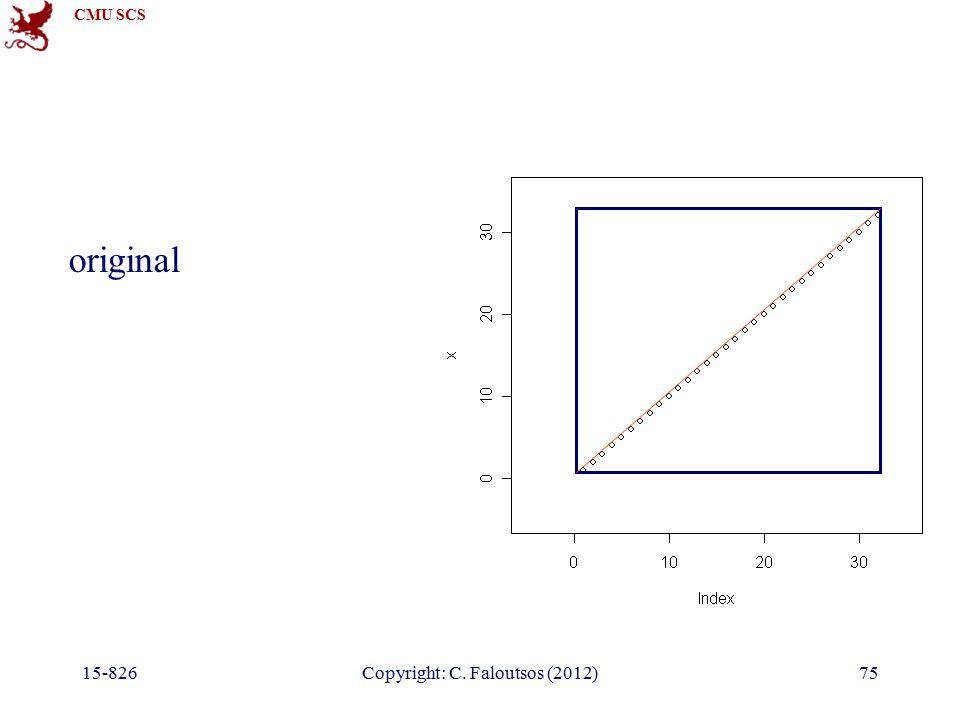 CMU SCS 15-826Copyright: C. Faloutsos (2012)75 original
