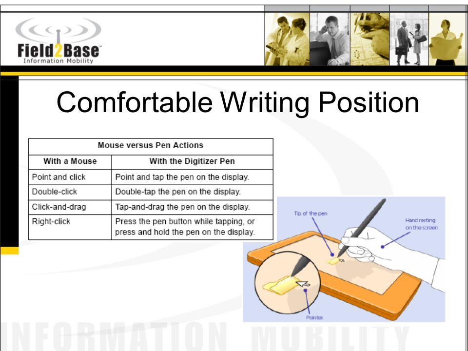 Comfortable Writing Position