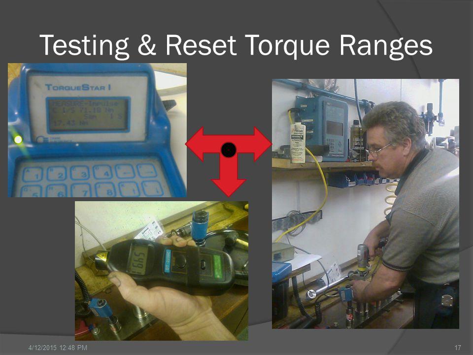 Testing & Reset Torque Ranges 174/12/2015 12:49 PM
