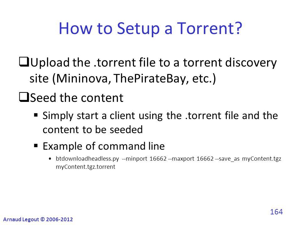How to Setup a Torrent.
