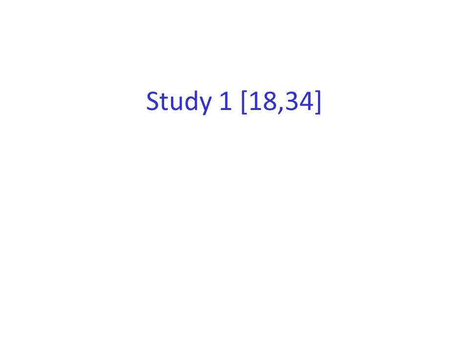 Study 1 [18,34]
