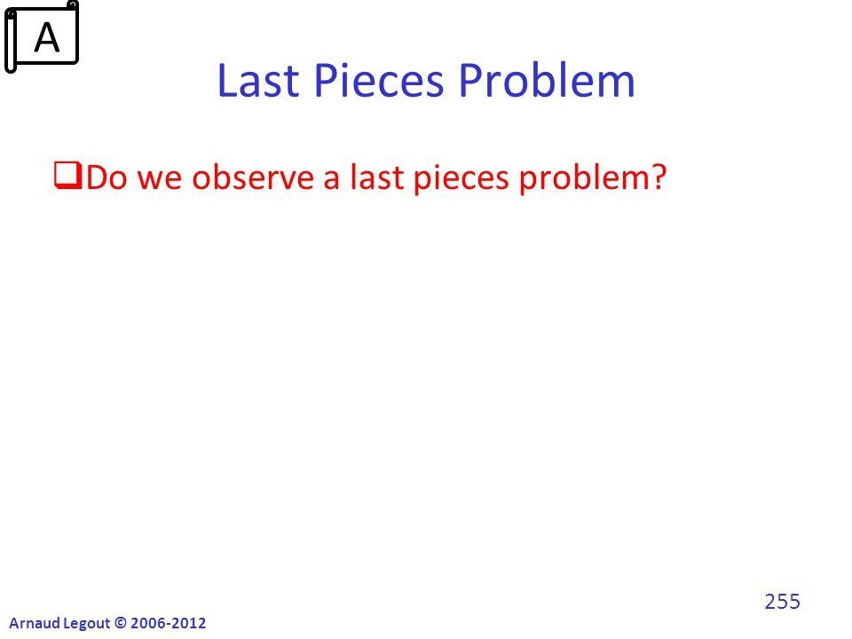 Last Pieces Problem  Do we observe a last pieces problem Arnaud Legout © 2006-2012 255 A