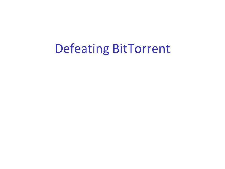Defeating BitTorrent