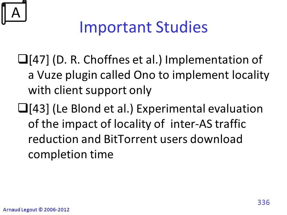Important Studies  [47] (D. R.