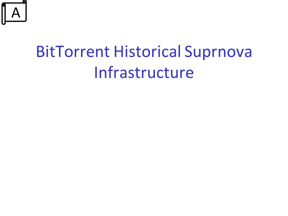 BitTorrent Historical Suprnova Infrastructure A