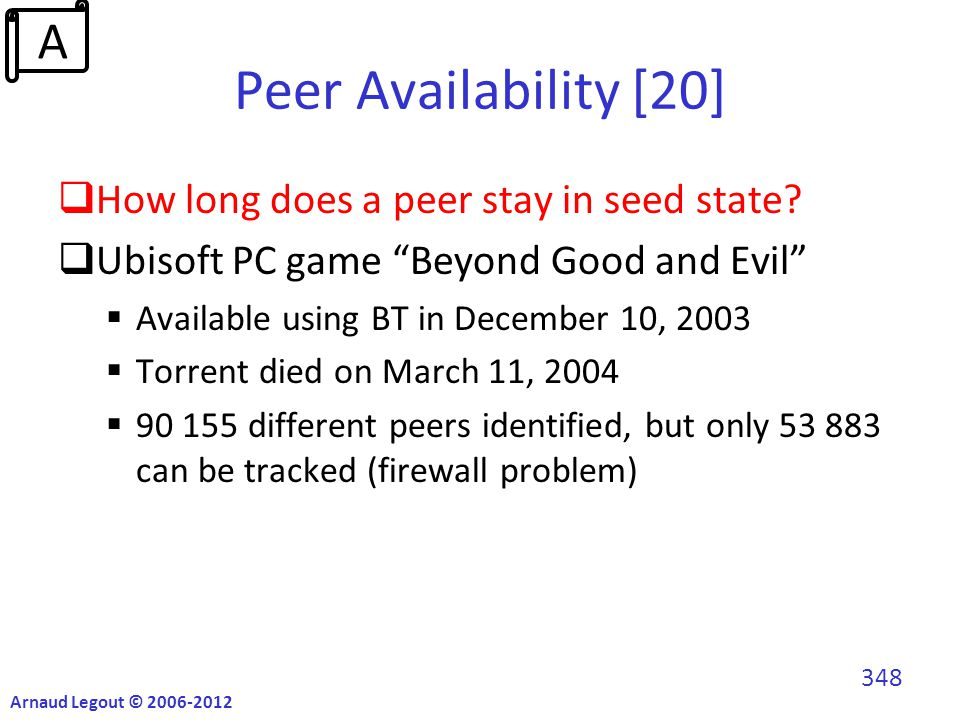 Peer Availability [20]  How long does a peer stay in seed state.