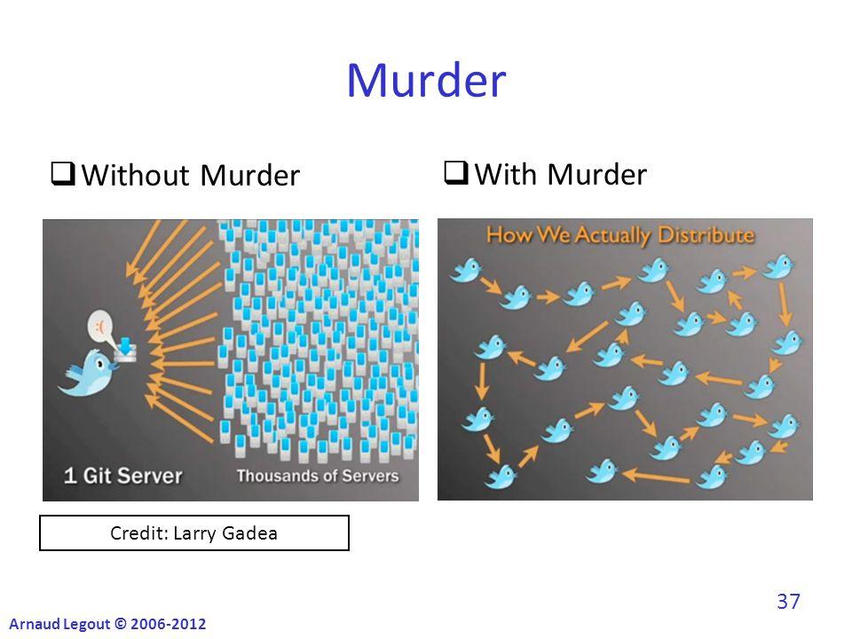  With Murder Murder  Without Murder Credit: Larry Gadea Arnaud Legout © 2006-2012 37