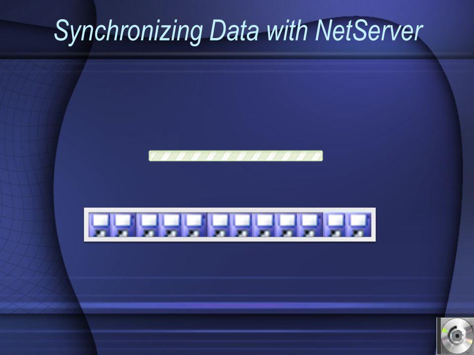 Synchronizing Data with NetServer