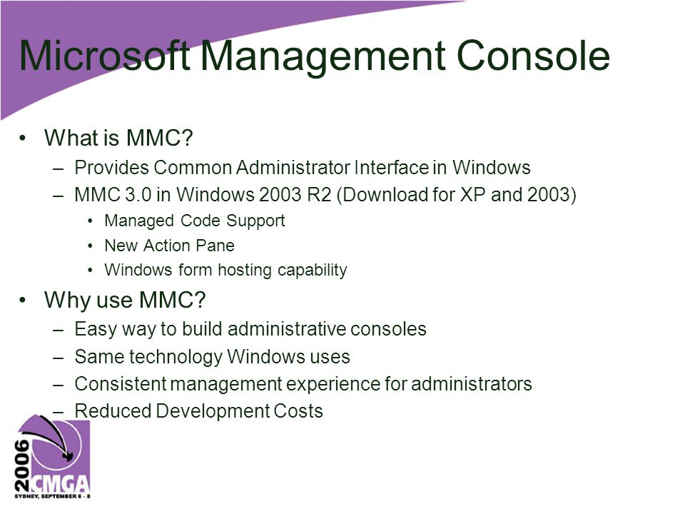 Microsoft Management Console What is MMC.