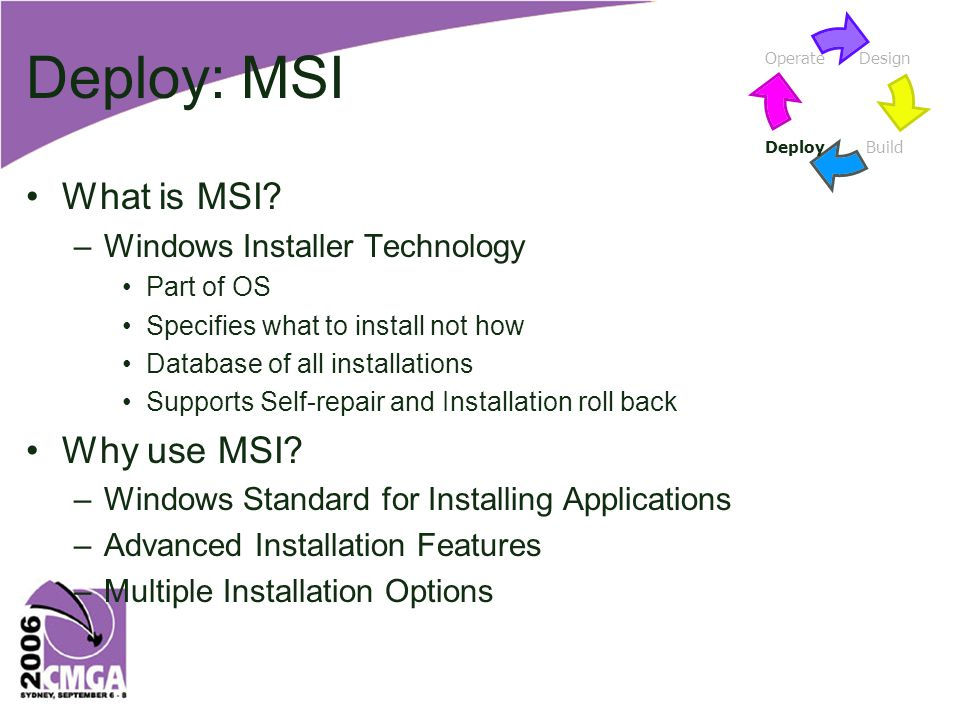 Deploy: MSI What is MSI.
