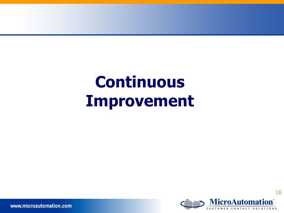 16 Continuous Improvement
