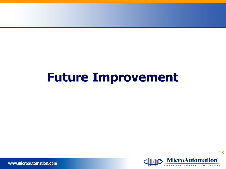 23 Future Improvement