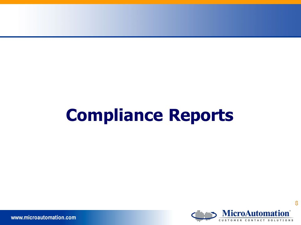 8 Compliance Reports