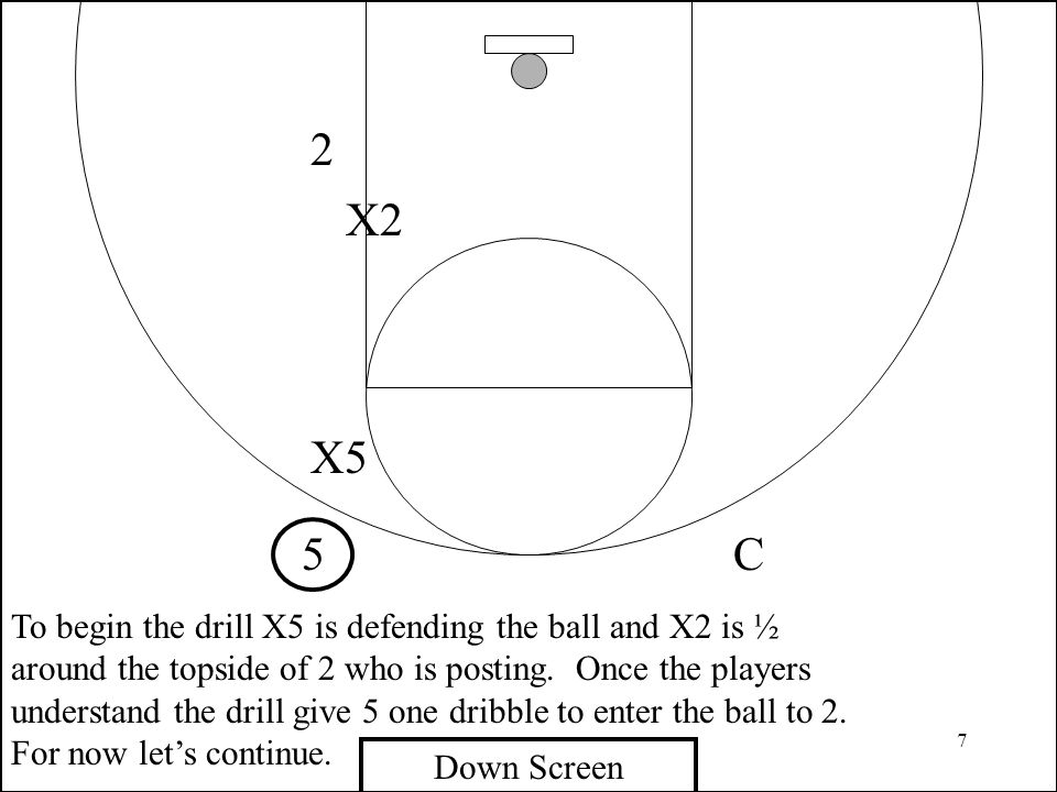 58 4 2 X2 Triangle Game X4 C This drill is to teach guards and big men how to defend the little to big and big to little screens.