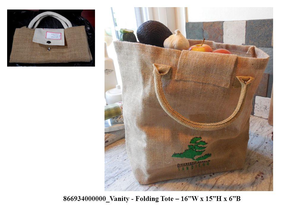 866934000000_Vanity - Folding Tote – 16 W x 15 H x 6 B
