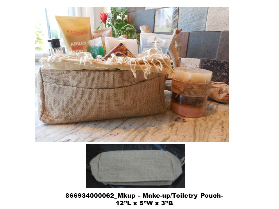 866934000062_Mkup - Make-up/Toiletry Pouch- 12 L x 5 W x 3 B