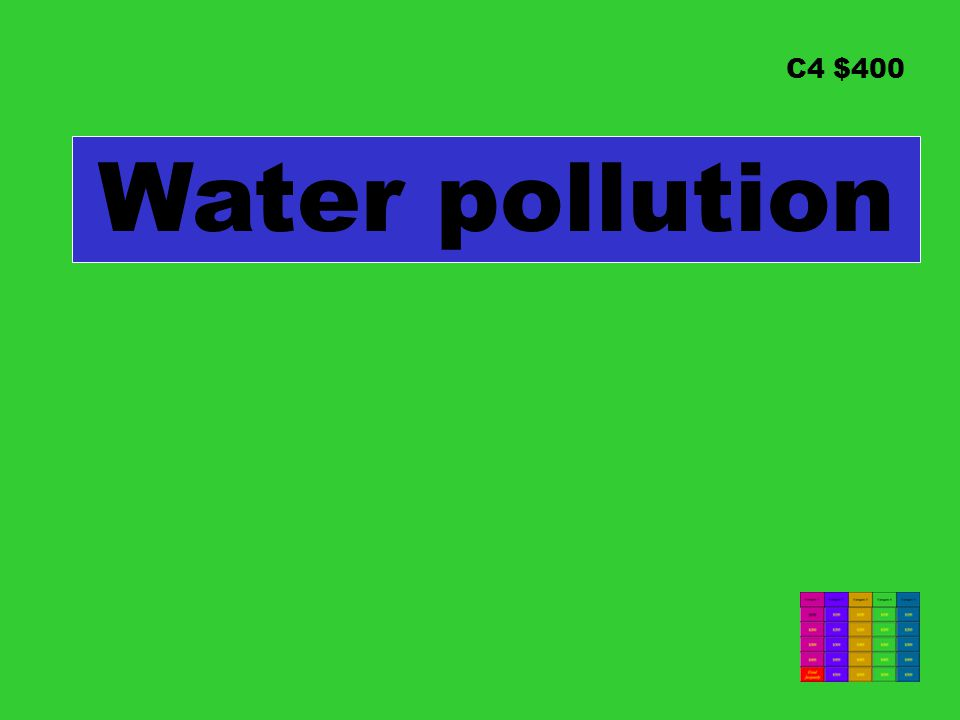 C4 $400 Water pollution