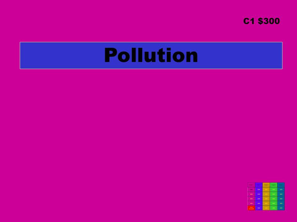 Pollution C1 $300