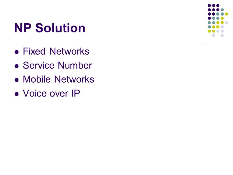 NP Technological Process Network BillingCRM NP carrier