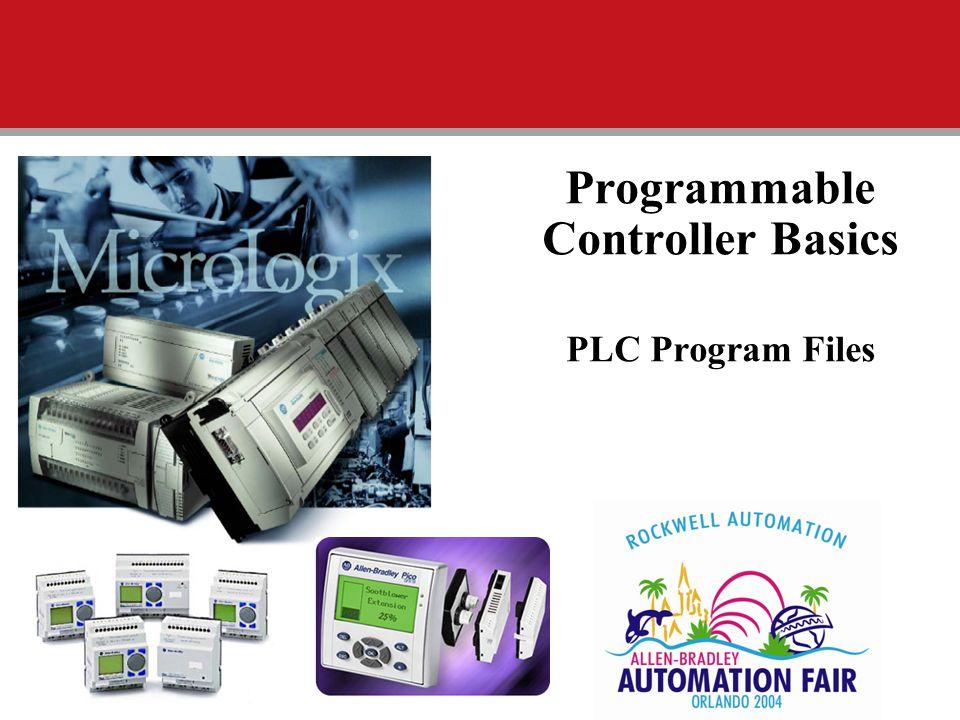 Programmable Controller Basics PLC Program Files