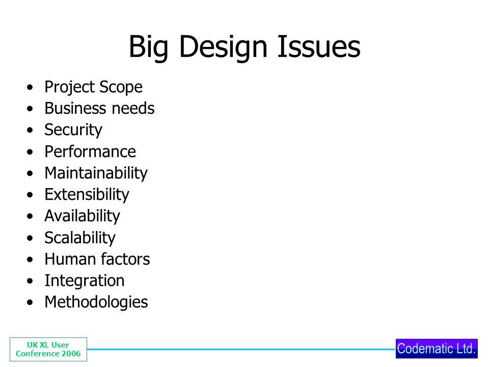 UK XL User Conference 2006 Spreadsheet eg.