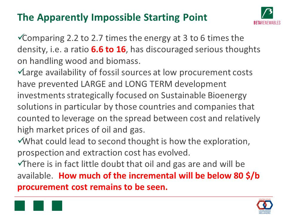 The Apparently Impossible Starting Point Comparing 2.2 to 2.7 times the energy at 3 to 6 times the density, i.e.